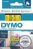 DYMO Schriftbandkassette  D1 24 mm x 7 m 53718 / schwarz auf gelb - toolster.ch