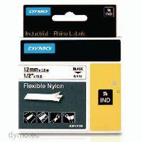 DYMO Schriftbandkassette 12 mm x 3.5 m 18758 / schwarz auf weiss - toolster.ch