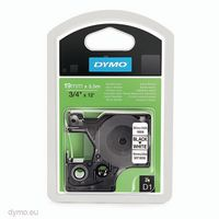 DYMO Schriftbandkassette 19 mm x 3.5 m 16958  schwarz auf weiss - toolster.ch