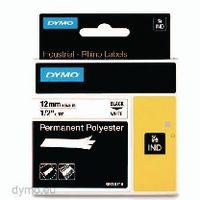 DYMO Schriftbandkassette 12 mm x 5.5 m 18483 / schwarz auf weiss - toolster.ch