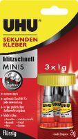 UHU Sekundenkleber mini 3 x 1 g, flüssig - toolster.ch