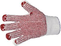 Strickhandschuh mit Noppen 9 / rot - toolster.ch
