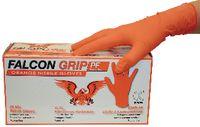 FALCON Einweg-Nitril-Handschuh Falcon Grip Hi-Vis, orange L / in Box zu 100 Stück - toolster.ch