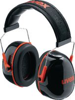 UVEX Gehörschützer  K3 schwarz / rot, 33 dB - toolster.ch