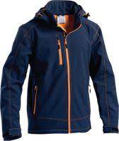 Softshell Jacke PROTECHTOR Norton orange/blau L - toolster.ch