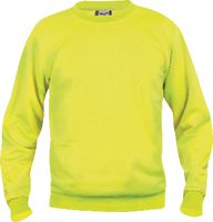 CLIQUE Sweat-Shirt  Basic Roundneck 021030 / warnschutz-gelb L - toolster.ch