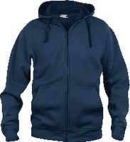 CLIQUE Basic Hoody Full Zip  021034 dark navy M - toolster.ch