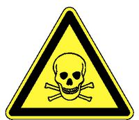 Warnschilder 164/ 200 mm giftige Stoffe - toolster.ch