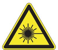 Warnschilder 204/ 100 mm Laserstrahl - toolster.ch