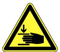 Warnschilder 330/ 100 mm Handverletzungen - toolster.ch