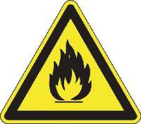 Warnschilder 151/ 100 mm Feuergefährliche Stoffe - toolster.ch