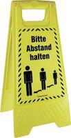 ACTIVEWORKPLACE Warnaufsteller - Bitte Abstand halten Höhe: 61.0 cm - toolster.ch