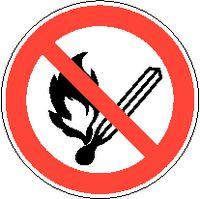 Verbotsschilder 810/Ø200mm Feuer,of. Licht+Rauchen verb. - toolster.ch