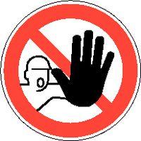 Verbotsschilder 833/Ø200mm Zutritt für Unbefugte verbote - toolster.ch