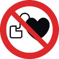 Verbotsschilder für Personen mit Herzschrittmacher 903/Ø100 mm - toolster.ch