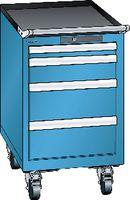 LISTA Fahrbarer Boy  18 x 27 E Schubladen 1x50, 1x100, 2x150 H 705 blau RAL 5012 - toolster.ch