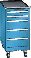 LISTA Fahrbarer Boy  18 x 27 E Schubladen 2x75, 3x150 H 872 blau RAL 5012 - toolster.ch