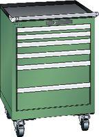 LISTA Fahrbarer Boy  27 x 27 E Schubladen 2x50, 2X75, 2X150 H 822 grün RAL 6011 - toolster.ch