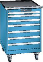 LISTA Fahrbarer Boy  27 x 27 E Schubladen 1x50, 2x75, 4x100 H 872 blau RAL 5012 - toolster.ch