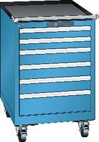 LISTA Fahrbarer Boy  27 x 27 E Schubladen 2x75, 3x100, 1x150 H 872 blau RAL 5012 - toolster.ch