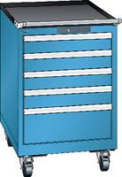 LISTA Fahrbarer Boy  27 x 27 E Schubladen 2x100, 1x200 H 872 blau RAL 5012 - toolster.ch