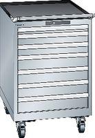 LISTA Fahrbarer Boy  27 x 27 E Schubladen 1x50, 2x75, 4x100 H 872 grau RAL 7035 - toolster.ch