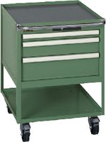 LISTA Fahrbarer Boy  27 x 36 E Schubladen 1x50, 1x100, 1x150 H 760 grün RAL 6011 - toolster.ch