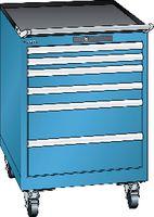 LISTA Fahrbarer Boy  27 x 36 E Schubladen 2x50, 2x75, 2x150 H 822 blau RAL 5012 - toolster.ch