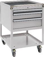FUTURO Fahrbarer Boy  27 x 36 E Schubladen 1x50, 1x100, 1x150 H 760 / grau RAL 7035 - toolster.ch