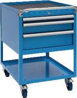 FUTURO Fahrbarer Boy  27 x 36 E Schubladen 1x50, 1x100, 1x150 H 810 / blau RAL 5015 - toolster.ch