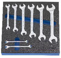Modul Doppelmaulschlüsselset 300x300x30 mm, 8-teilig - toolster.ch