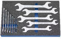 Modul Doppelmaulschlüsselset 450x300x30 mm, 12-teilig - toolster.ch