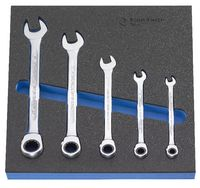Modul Rätschen-Ringmaulschlüsselset 300x300x30 mm, 5-teilig - toolster.ch