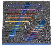 PREMIUM-Modul Inbussschlüsselset 300x300x30 mm,17-teilig - toolster.ch