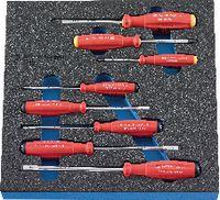 PREMIUM-Modul Schraubenzieherset 300x300x30 mm, 8-teilig - toolster.ch