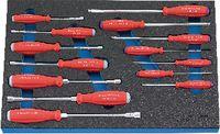 Modul Innen-/Aussen-6-ka.Schraubenzieher 450x300x30 mm, 14-teilig - toolster.ch