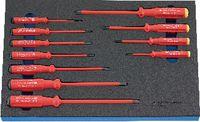 Modul Elek. Schraubenzieherset VDE 450x300x30 mm, 11-teilig - toolster.ch