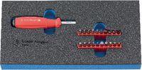 Modul Bit-Schraubenzieherset 300x150x30 mm, 23-teilig - toolster.ch