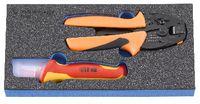 PREMIUM-Modul Elektronik Crimpzangenset 300x150x30 mm, 2-teilig - toolster.ch