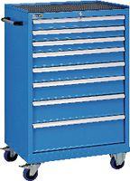 FUTURO Fahrbarer Boy  36 x27 E Schubladen 3x75, 2x100, 125, 150, 200 H 1130 blau RAL5015 - toolster.ch