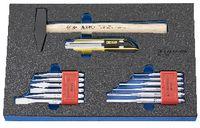PREMIUM-Modul Schlagwerkzeugset 450x300x30 mm, 14-teilig - toolster.ch