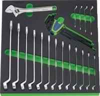 NERIOX Modul Ringmauschlüsselsatz 376 x 395 x 30 mm, 27-teilig - toolster.ch