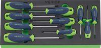 NERIOX Modul Schraubenzieherset Für TORX®-Schrauben 188 x 395 x 30 mm, 10-teilig - toolster.ch
