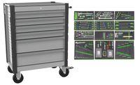 NERIOX Werkstattwagen 242 Werkzeuge in 12 Einlagen 6 Schubladen - toolster.ch