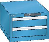 LISTA Schubladenschrank 18x27E, 2 Schubladen H 283 -  lichtblau RAL 5012 - toolster.ch
