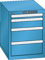 LISTA Schubladenschrank 18x27E, 4 Schubladen H 533 - lichtblau RAL 5012 - toolster.ch