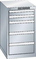 LISTA Schubladenschrank  18x27E (411x572) Schubladen 2x75, 3x150 H 700 Lichtgrau RAL 7035 - toolster.ch