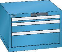 LISTA Schubladenschrank 27x27E, 3 Schubladen H 383 -  lichtblau RAL 5012 - toolster.ch