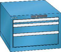 LISTA Schubladenschrank 27x36E,3 Schubladen H 383 -  lichtblau RAL 5012 - toolster.ch