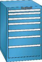 LISTA Schubladenschrank 27x36E, 7 Schubladen H 850 -  lichtblau RAL 5012 - toolster.ch